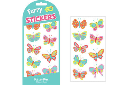 Stickers, Fuzzy Butterflies