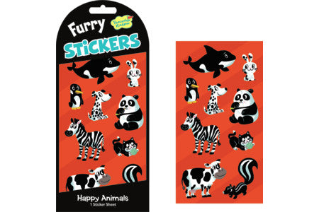 Stickers, Fuzzy Happy Animals