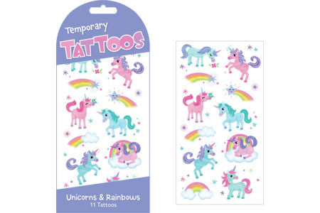 Stickers, Glitter Rainbow Ponies