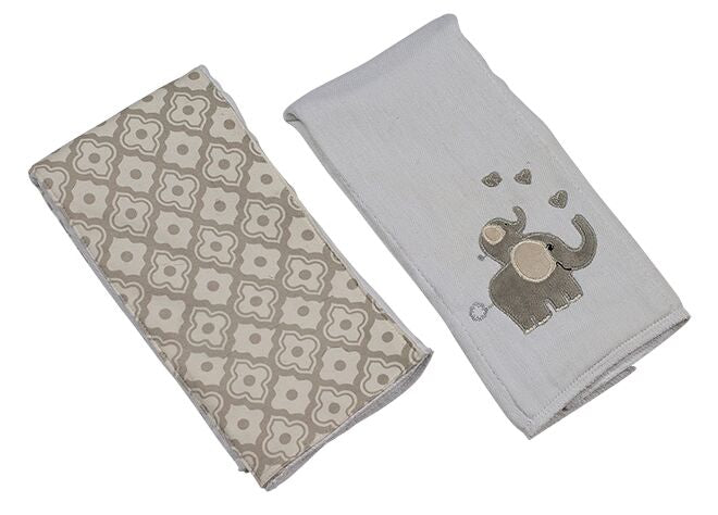 Elephant Double Burp Cloth Set