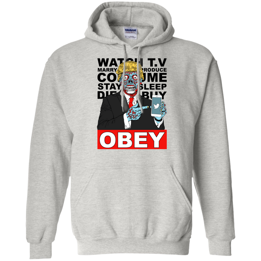 Tump They Live Obey Hoodie White/Grey