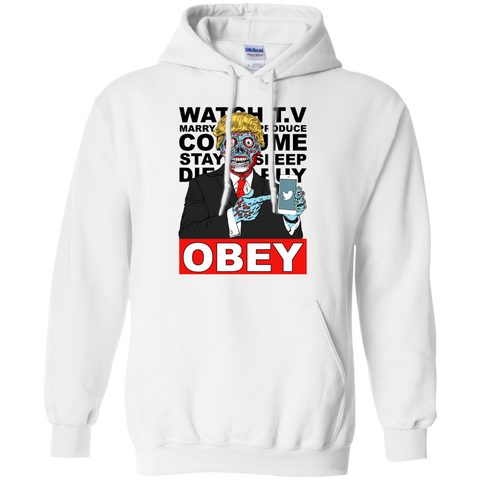 Image of Tump They Live Obey Hoodie White/Grey