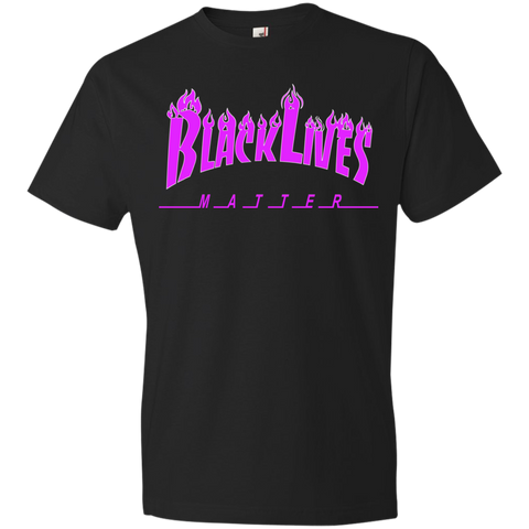 Image of BLM Purple Flames  Mens T-Shirt
