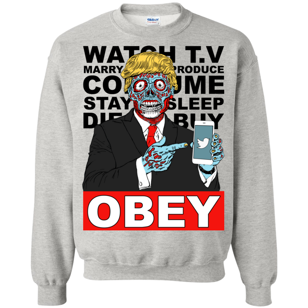 Tump They Live Obey Crewneck White/Grey