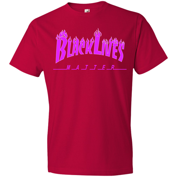 BLM Purple Flames  Mens T-Shirt