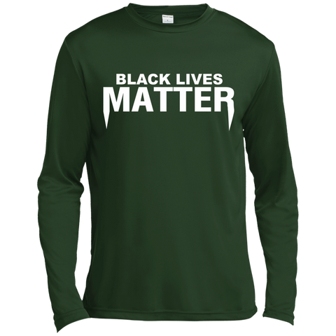 Black Lives Matter Long Sleeve Moisture Absorbing Shirt