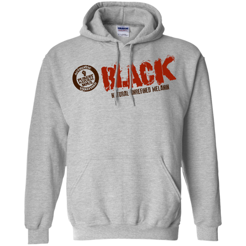 Image of Raw Black Pullover Hoodie