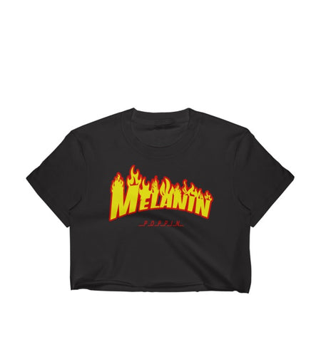 Melanin Poppin Women's Crop Top