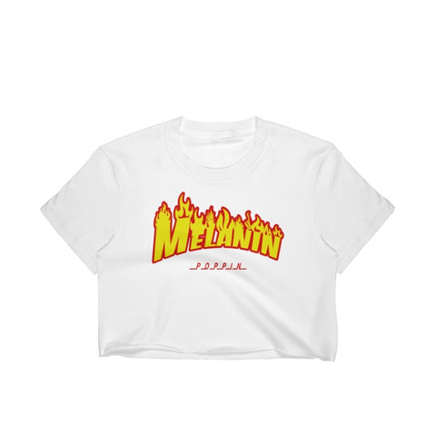 Image of Melanin Poppin Women's Crop Top