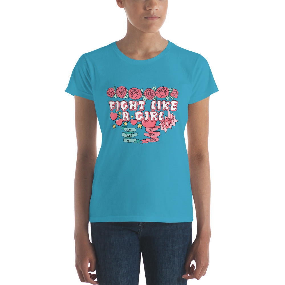 Fight Like Like A Girl Women's short sleeve t-shirt