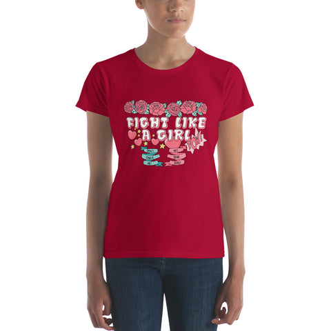 Image of Fight Like Like A Girl Women's short sleeve t-shirt