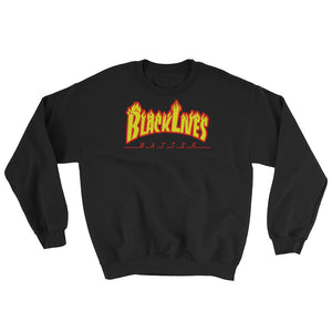 BLM Fire Sweatshirt Black