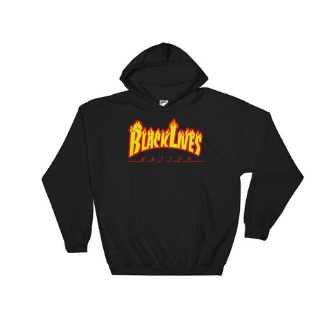 BLM Fire Hooded Sweatshirt Black