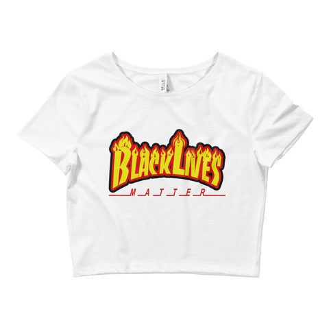 Image of Black Lives Matter Fire Crop Tee