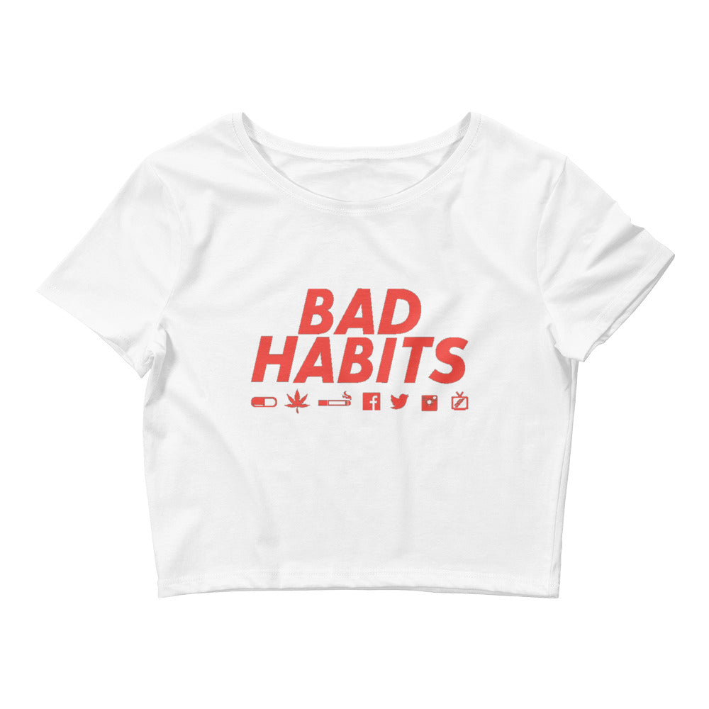 Bad Habits Women's Crop Tee