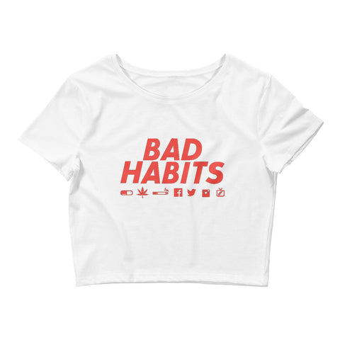 Image of Bad Habits Women's Crop Tee