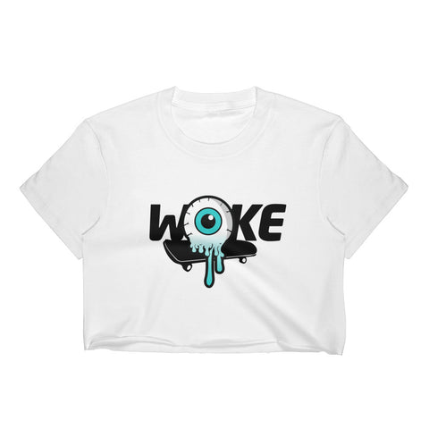 Woke Skateboard Eye Women's Crop Top