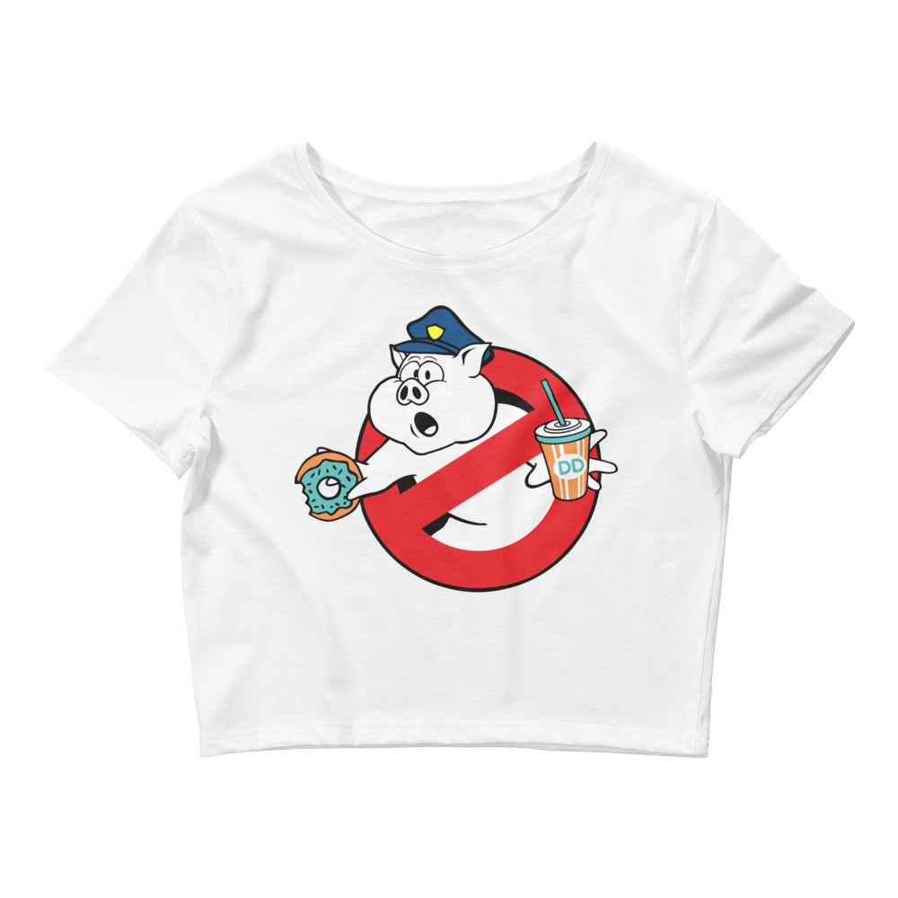 Ghost Bust that cop Women's Crop Tee