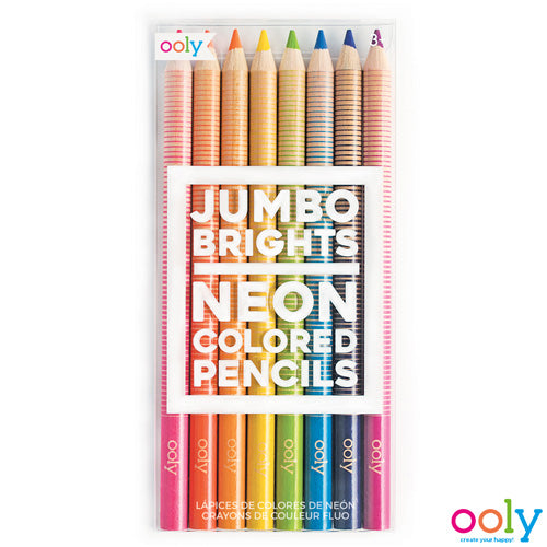 OOLY -Jumbo Brights Neon Colored Pencils