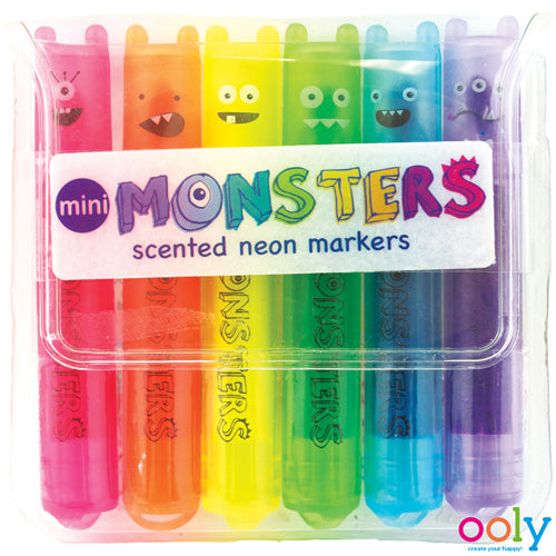OOLy - Mini Monster scented neon markers