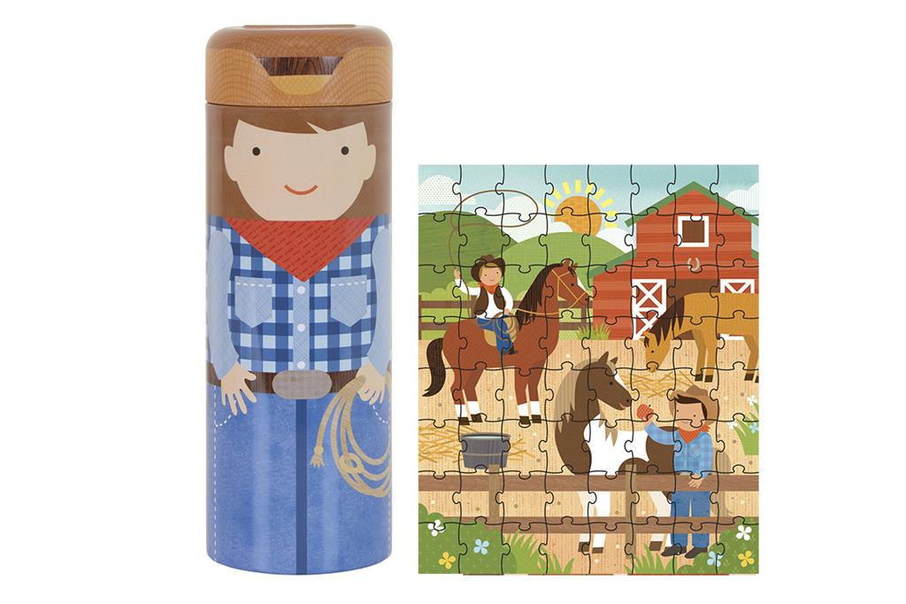 PETIT COLLAGE Puzzel op de ranch +4j