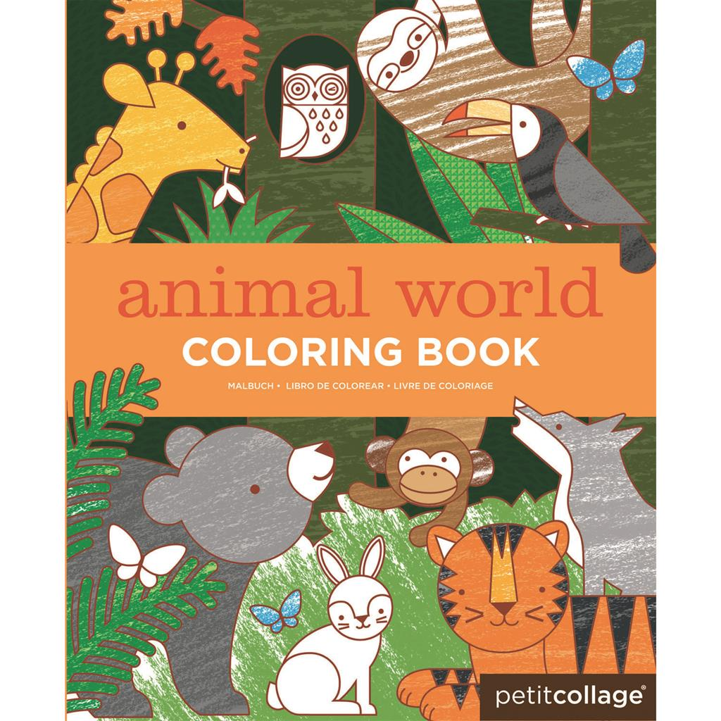 PETIT COLLAGE Coloring book - Dierenwereld