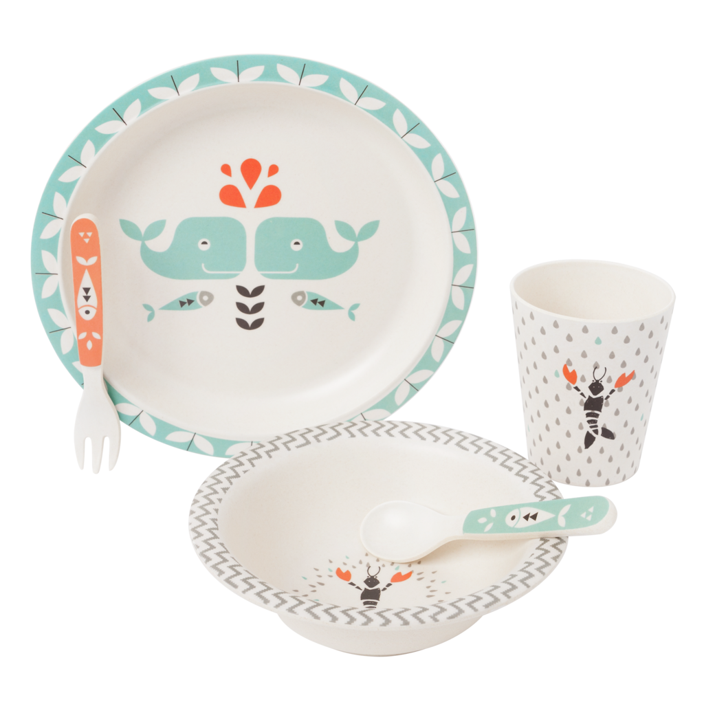 FRESK - Bamboo Diner Set Whale