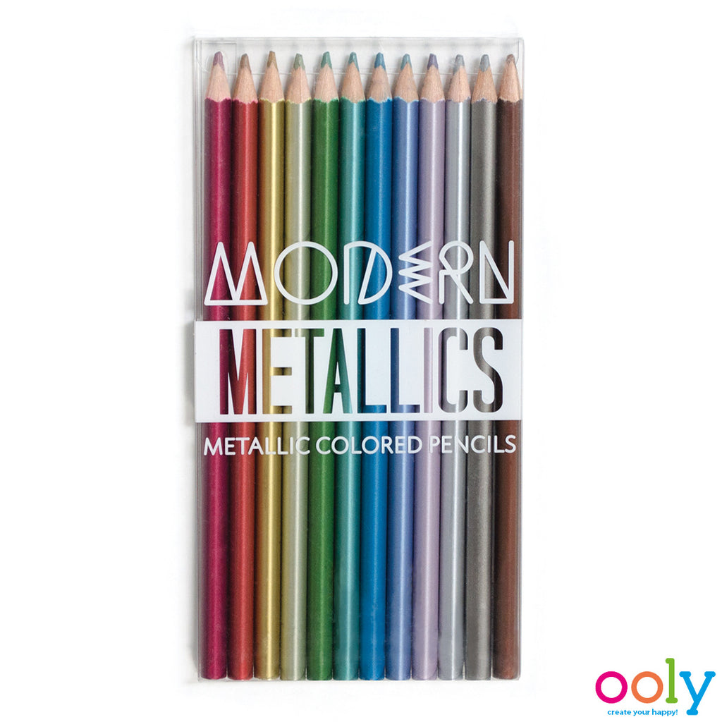OOLY - Modern Metallics Colored Pencils