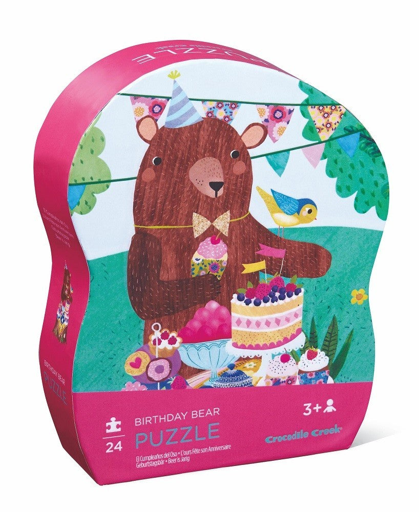Crocodile Creek - Mini puzzel -Birthday Bear