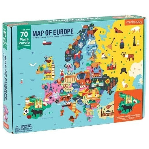 Mudpuppy - Educatieve puzzel - Europa