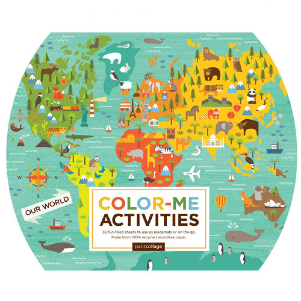 PETIT COLLAGE Coloring&activity book - Onze wereld