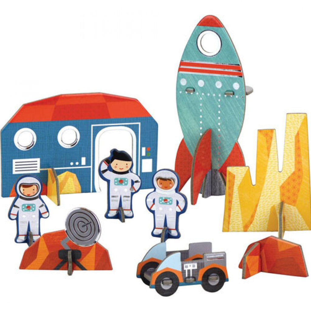 PETIT COLLAGE Pop-out puzzel - Space  +4j