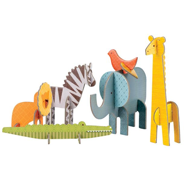PETIT COLLAGE Pop-out puzzel - Safari +4j