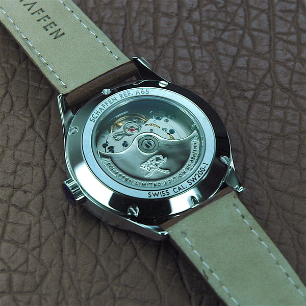 A65 Dress Watch with engraved initial on rotor