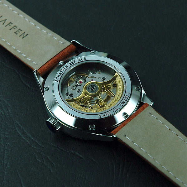 A65 Dress Watch with 18K yellow-gold-plated rotor
