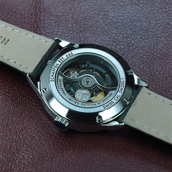 A65 Dress Watch with custom emblem on rotor