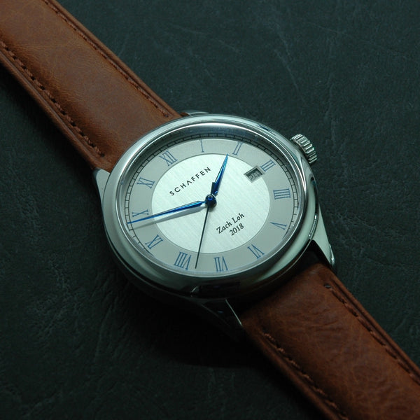 A65 Dress Watch with blue roman numerals