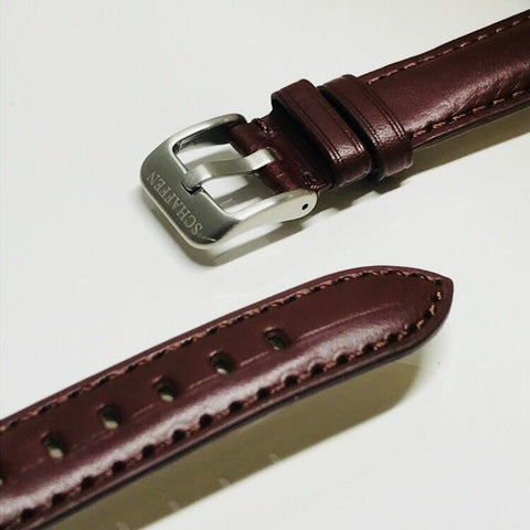 18mm Dark Brown Calf Leather Strap (Top-grain Leather)