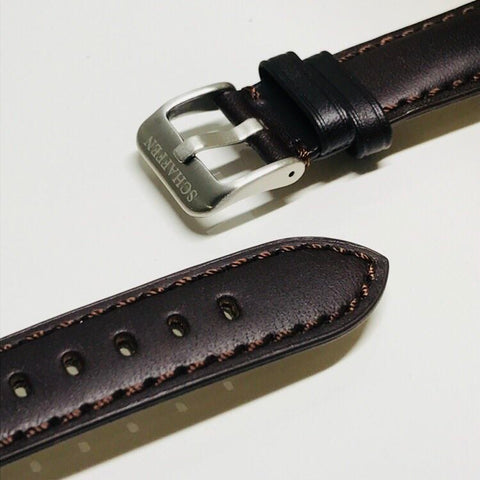 20mm Dark Brown Calf Leather Strap (Top-grain Leather)