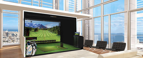 Ernest Sports ES16 Tour Launch Monitor & Golf Simulator Full Room
