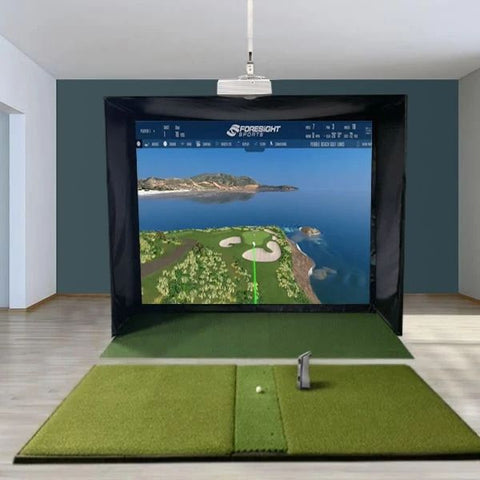GCQuad SwingBay Golf Simulator with Fiberbuilt