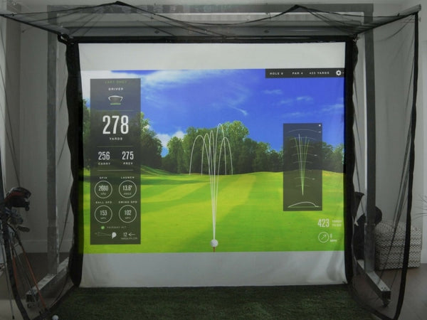 Best Garage Golf Simulator - SkyTrak HomeCourse