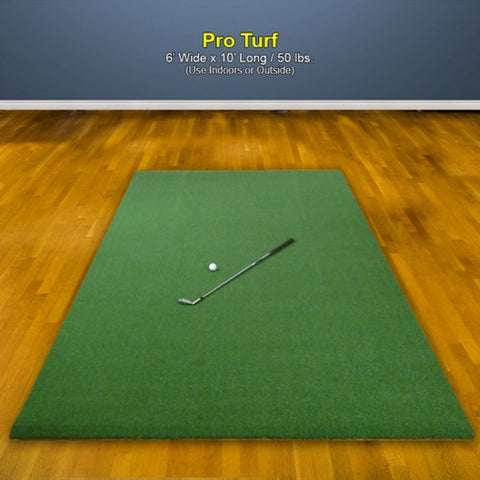 The Net Return Pro Turf Golf Mat for Platinum Studio