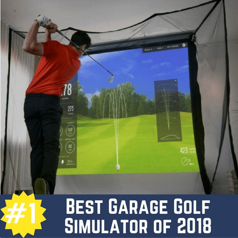 SkyTrak HomeCourse Garage Golf Simulator Package