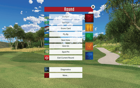 TruGolf in-play screenshot