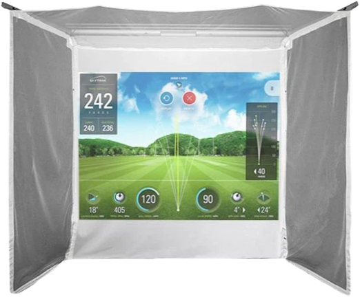 HomeCourse Retractable Simulator Screen