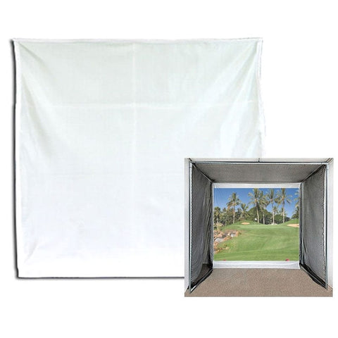 10x10 foot golf simulator projector impact screen