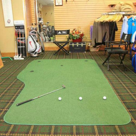 big moss country club putting green in pro shop