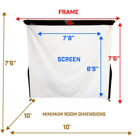 SkyTrak Budget Golf Simulator Screen Dimensions