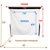 Image of SkyTrak Budget Golf Simulator Screen Dimensions